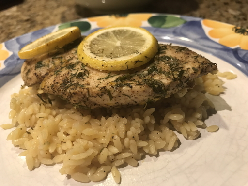 Greek Lemon Chicken and Orzo