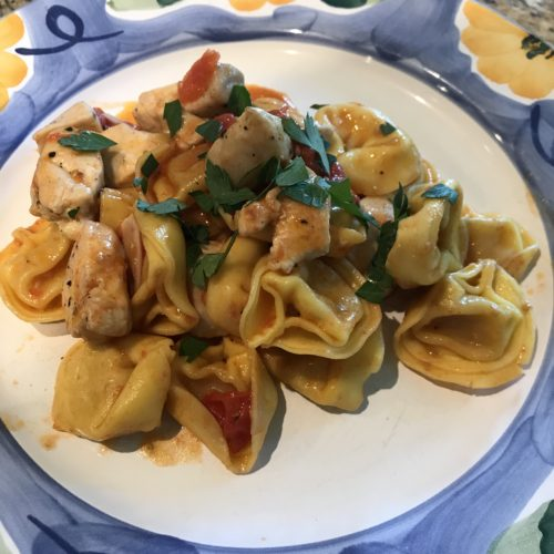 Skillet Chicken and Tortellini