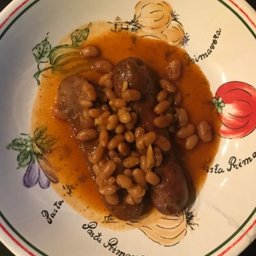 Slow Cooker Barbecue Beans and Sausage