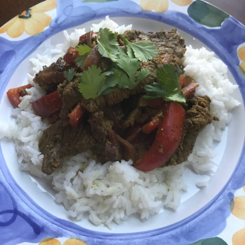Indian-Spiced Pepper Steak