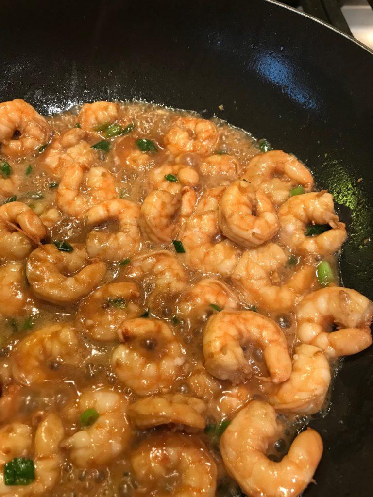 Ginger Garlic Sesame Shrimp